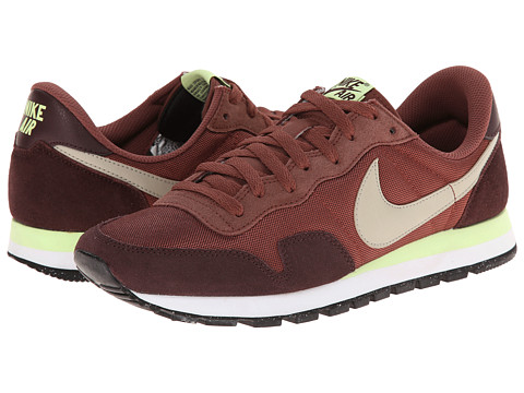 Nike - Air Pegasus 83 (Red Sepia/Mahogany/Liquid Lime/Beige Chalk) Men's Shoes