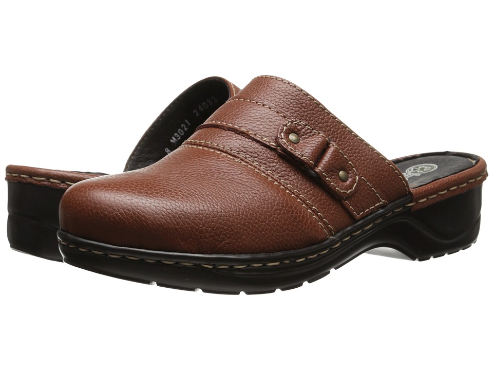 Lobo Solo - Mercedes (Cognac Leather) Women's Clog Shoes