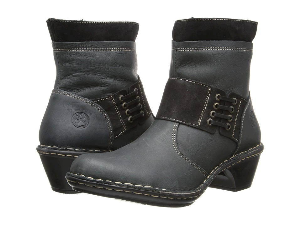 Lobo Solo - Rabecca (Black/Black Leather) Women's Zip Boots