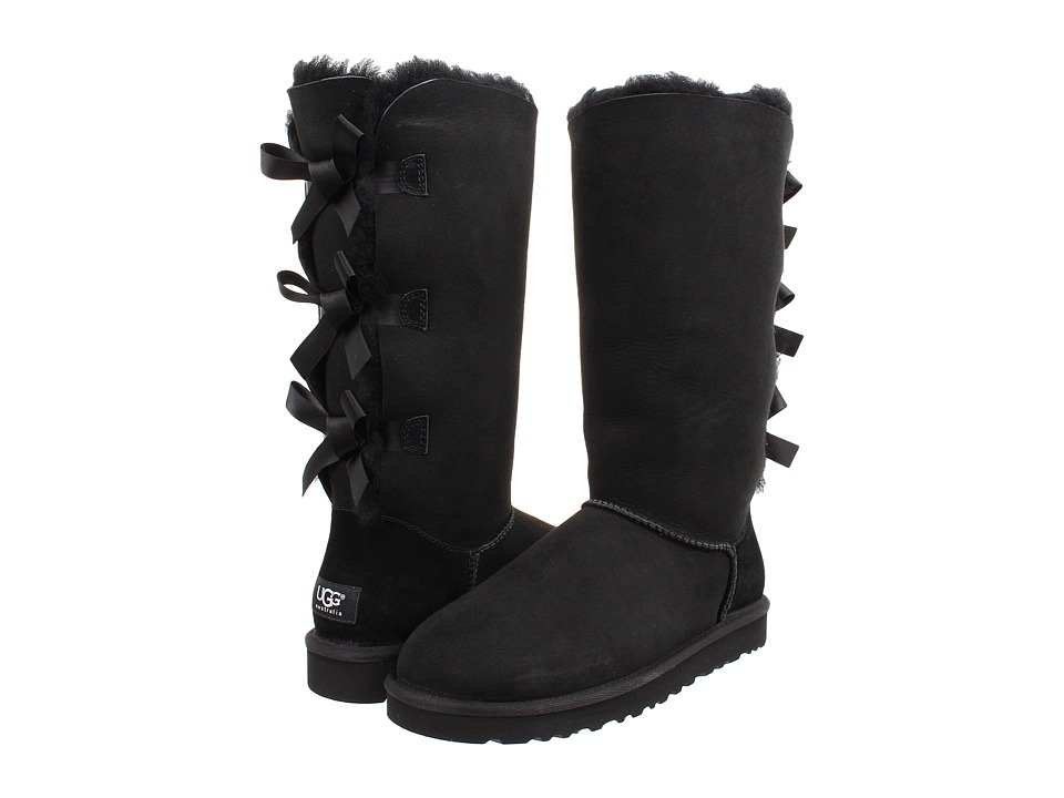 UGG - Bailey Bow Tall (Black) Women's Boots