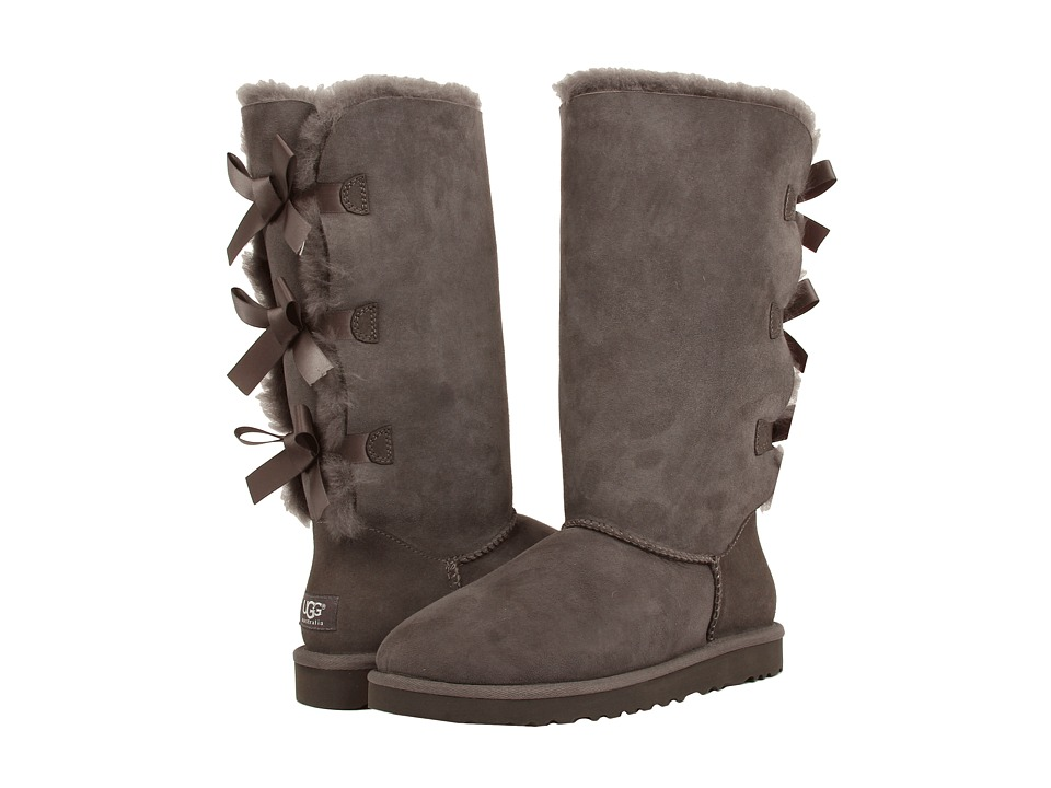 UGG - Bailey Bow Tall (Grey) Women's Boots