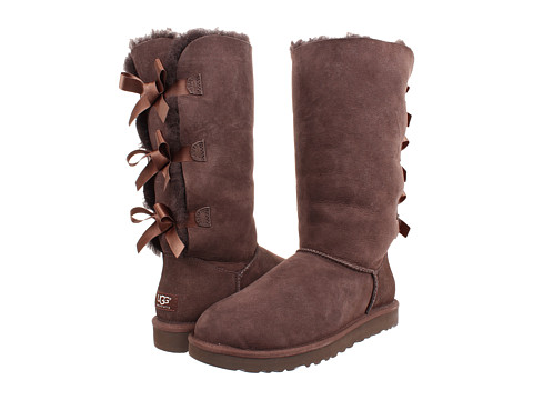 UGG - Bailey Bow Tall (Chocolate) Women