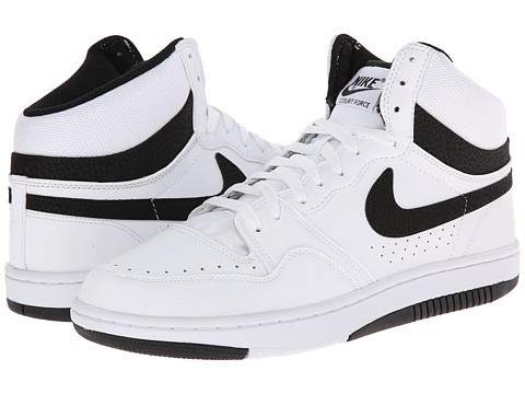 Nike - Court Force Hi ND (White/White/Black) Men's Basketball Shoes