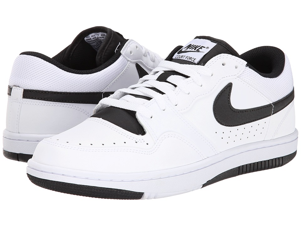 Nike - Court Force Low (White/Black) Men's Shoes