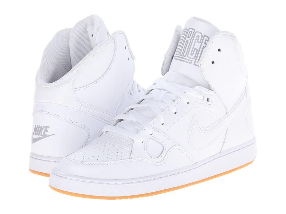 Nike Son Of Force Mid (White.Gum Light Brown/Wolf Grey/White) Men