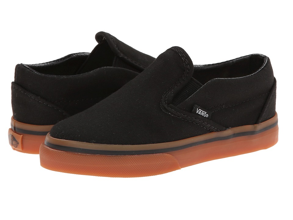 Vans Kids - Classic Slip-On (Toddler) ((Gumsole) Black/Classic Gum) Kids Shoes
