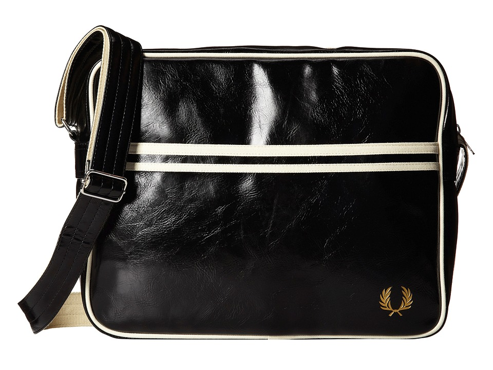 Fred Perry - Classic Shoulder Bag (Black) Messenger Bags