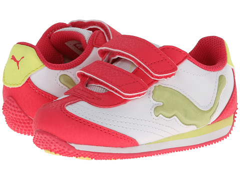 Puma Kids - Speeder Illuminescent V (Toddler/Little Kid/Big Kid) (White/Paradise Pink) Girl