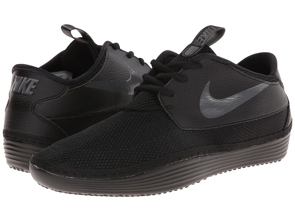 Nike - Solarsoft Moccasin 2 (Black/Black/Dark Grey) Men's Shoes