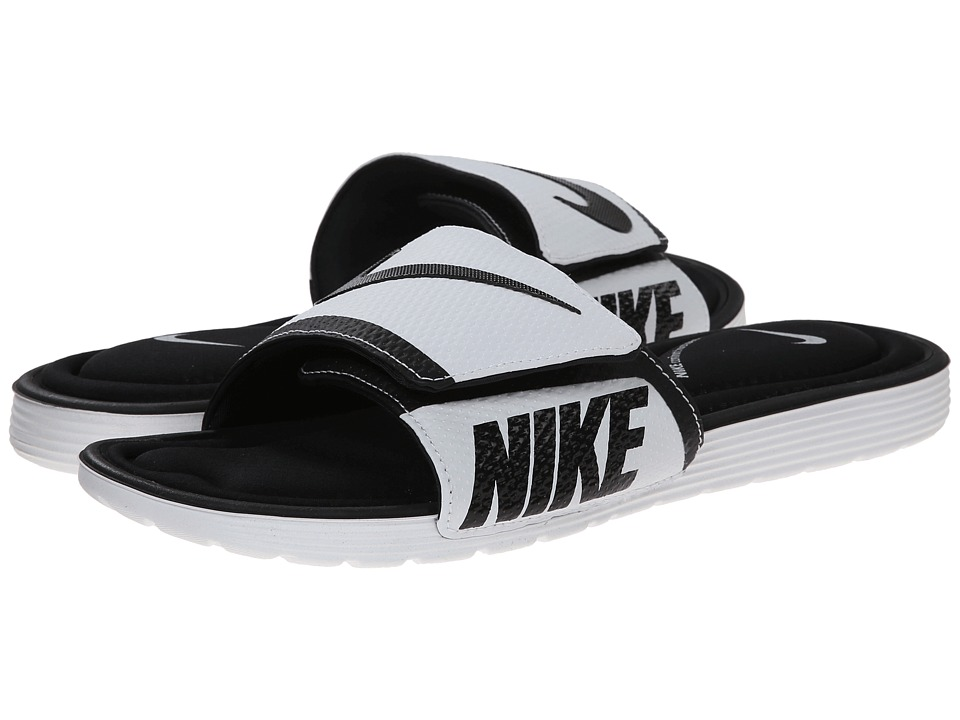 Nike - Solarsoft Comfort Slide (Black/White) Men's Slide Shoes
