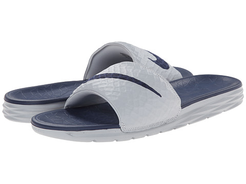 Nike - Benassi Solarsoft Slide 2 (Wolf Grey/Midnight Navy) Men