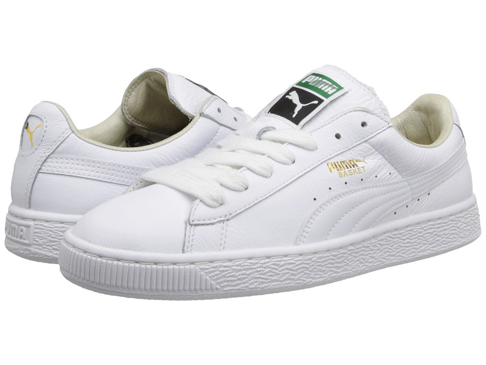PUMA - Basket Classic LFS (White/White) Men's Shoes