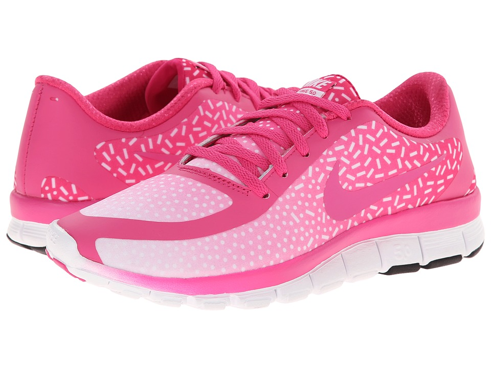 Nike - Free 5.0 V4 (Hot Pink/White/Hot Pink) Women's Shoes
