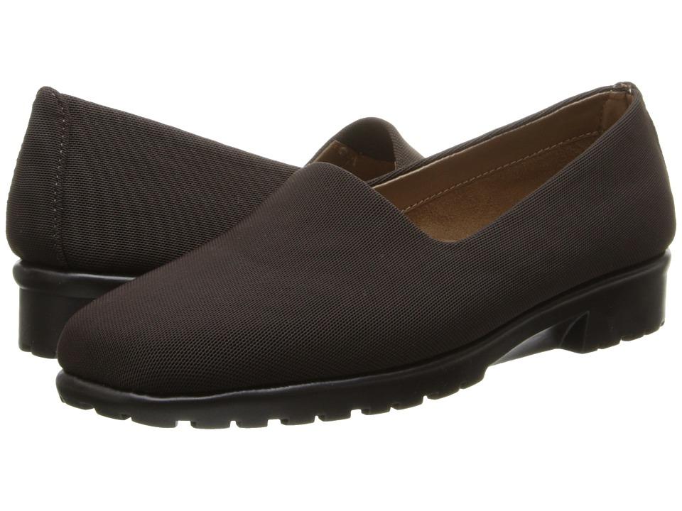 Aerosoles - Last Call (Brown Fabric) Women's Slip on Shoes