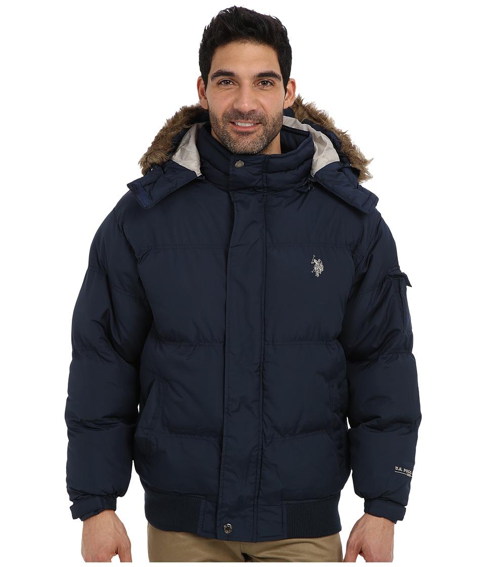 U.S. POLO ASSN. - Short Snorkel Coat w/ Small Pony (Classic Navy) Men's Coat plus size,  plus size fashion plus size appare