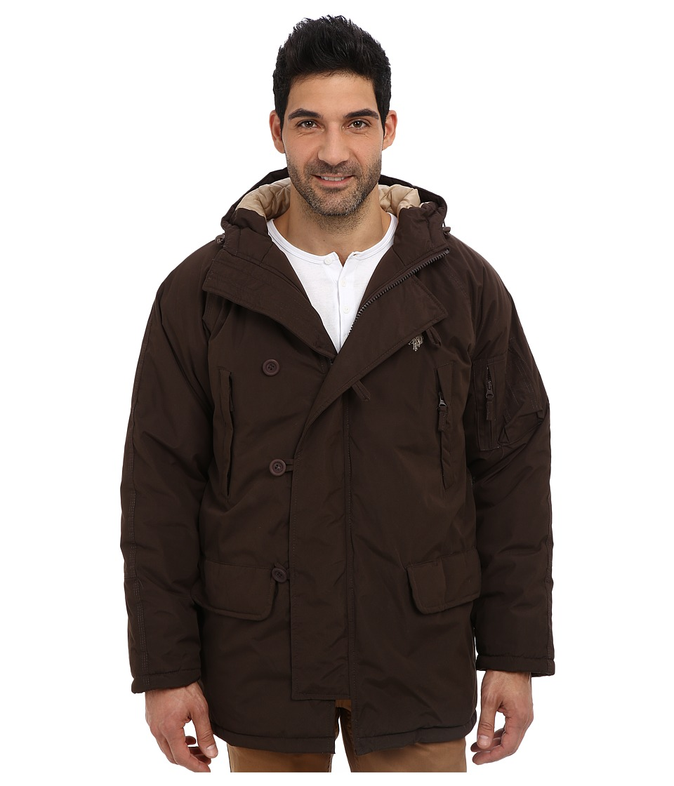 U.S. POLO ASSN. - Long Snorkel Jacket (Dark Brown) Men's Coat