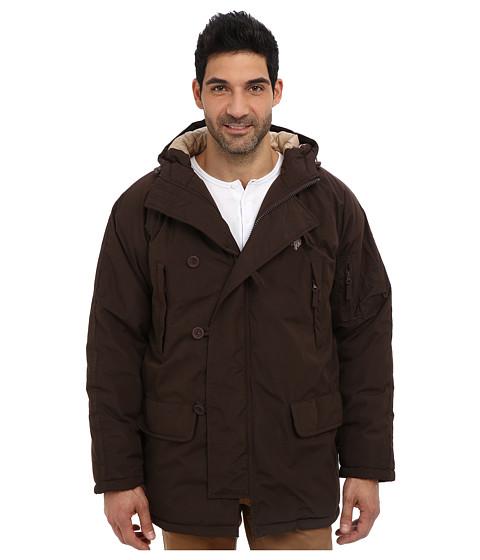 U.S. POLO ASSN. - Long Snorkel Jacket (Dark Brown) Men's Coat
