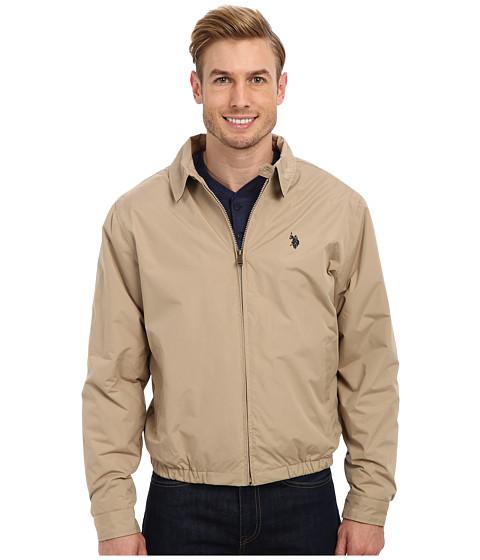 U.S. POLO ASSN. - Micro Golf Jacket with Small Pony (Desert Khaki) Men