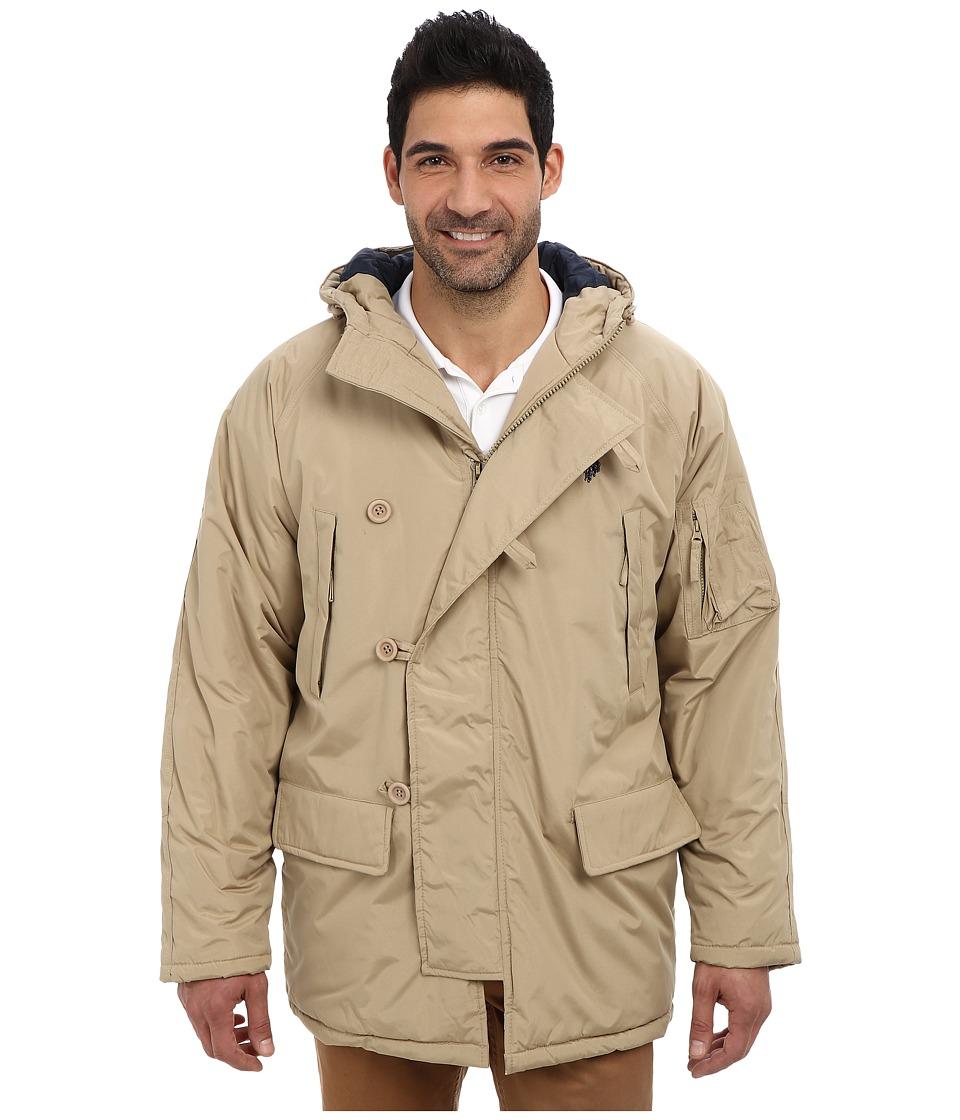 U.S. POLO ASSN. - Long Snorkel Jacket (Desert Khaki) Men's Coat