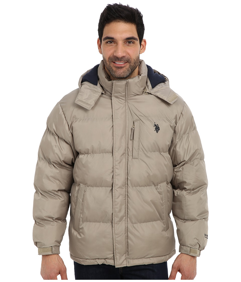 U.S. POLO ASSN. - Classic Short Bubble Coat w/ Small Pony (Thomston Khaki) Men's Coat