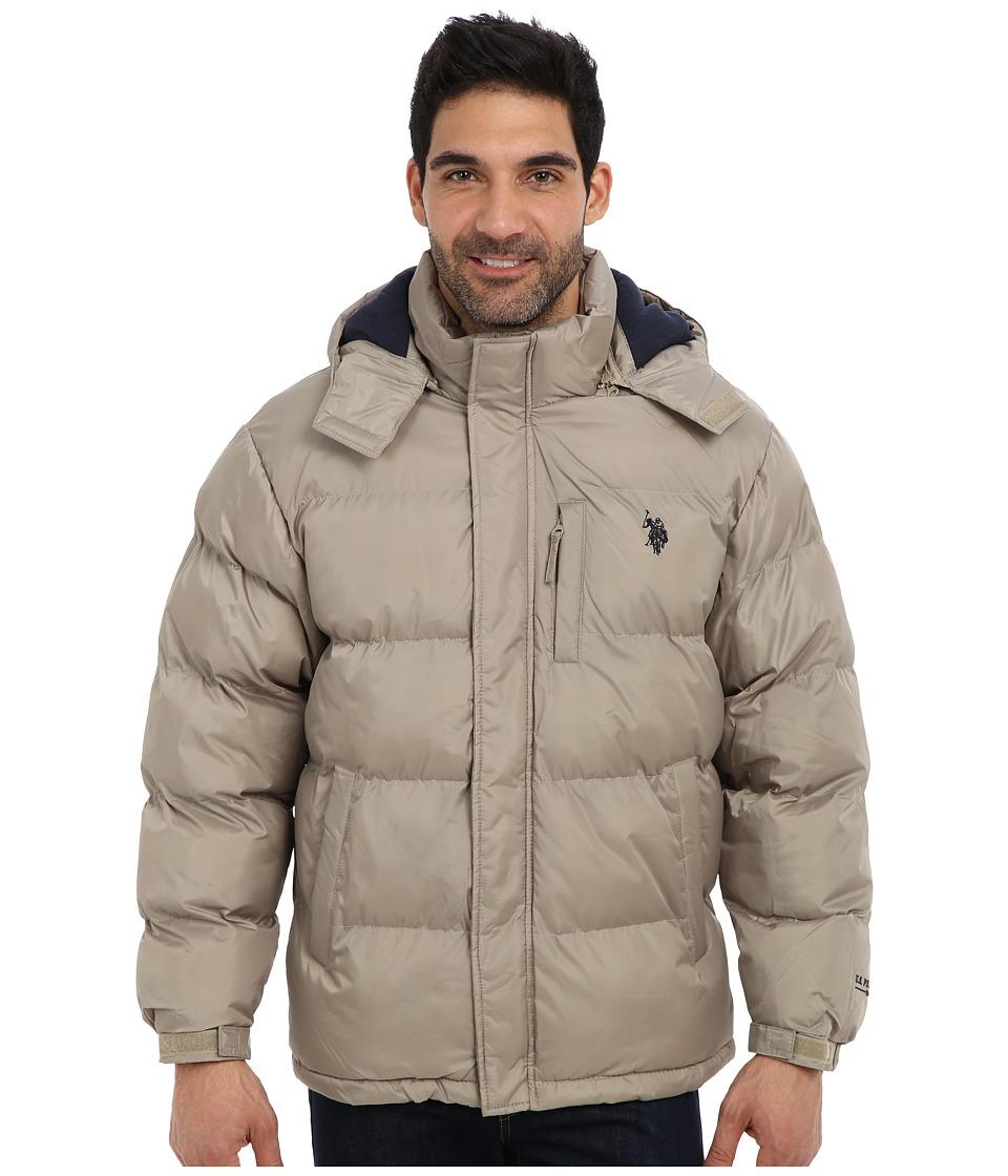 U.S. POLO ASSN. - Classic Short Bubble Coat w/ Small Pony (Thomston Khaki) Men's Coat plus size,  plus size fashion plus size appare