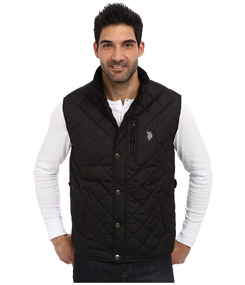 U.S. POLO ASSN. - Diamond Quilted Vest (Black) Men's Vest