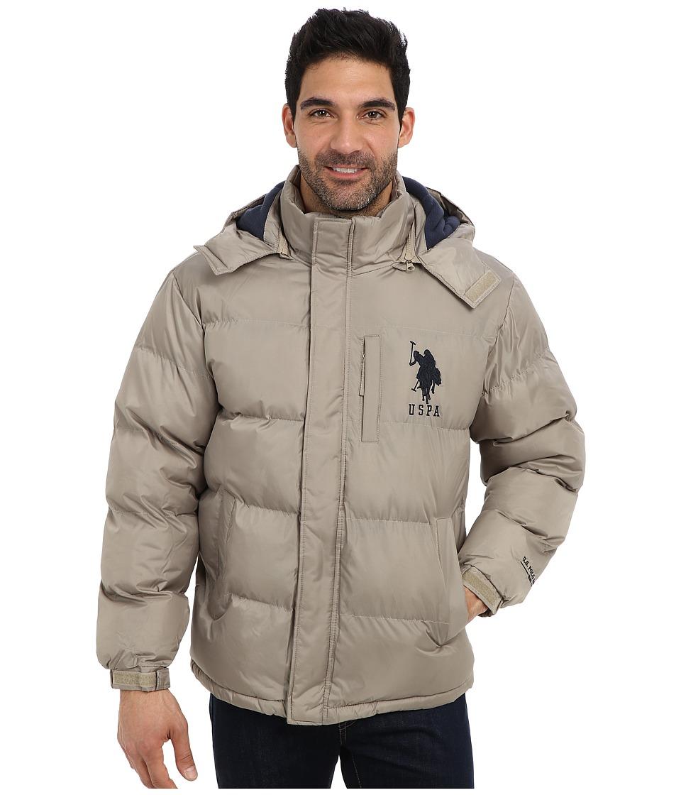 U.S. POLO ASSN. - Classic Short Bubble Coat w/ Big Pony (Thomston Khaki) Men's Coat plus size,  plus size fashion plus size appare
