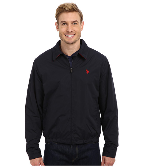 U.S. POLO ASSN. - Micro Golf Jacket with Small Pony (Classic Navy 1) Men