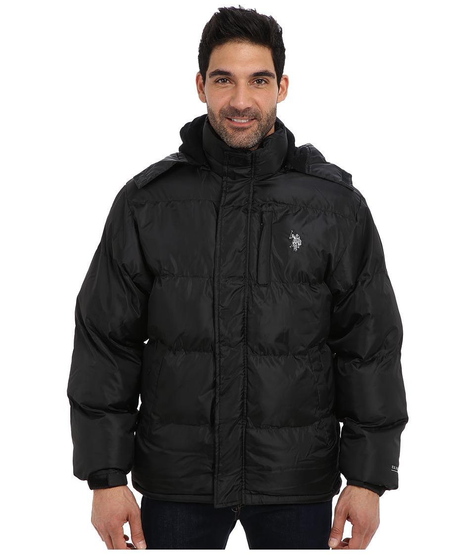 U.S. POLO ASSN. - Classic Short Bubble Coat w/ Small Pony (Black) Men's Coat plus size,  plus size fashion plus size appare