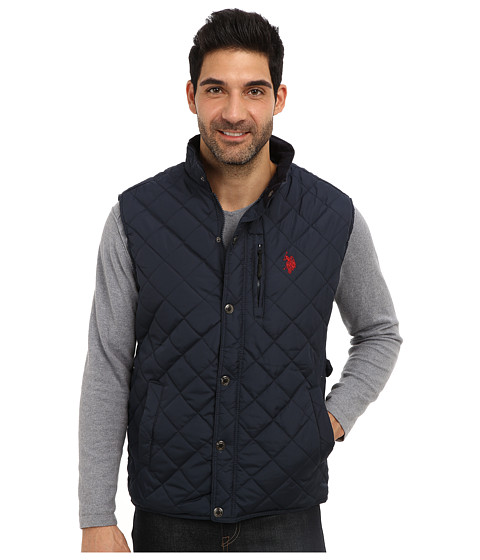 U.S. POLO ASSN. - Diamond Quilted Vest (Classic Navy) Men's Vest