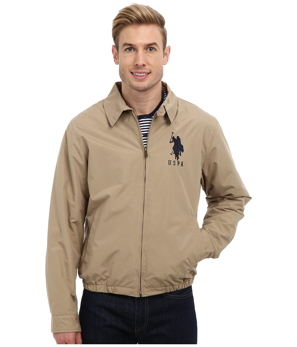 U.S. POLO ASSN. - Micro Golf Jacket with Big Pony (Desert Khaki) Men's Coat
