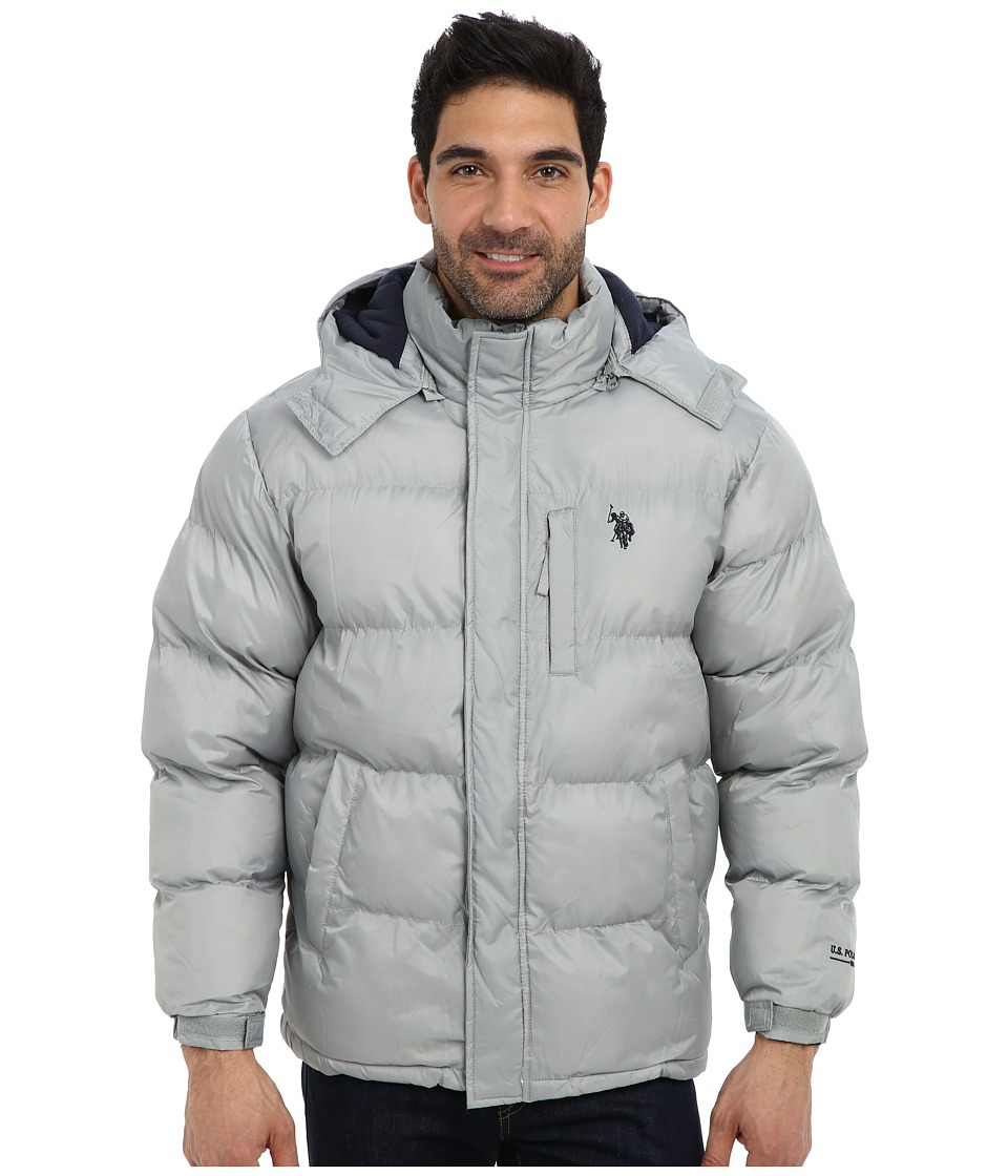 U.S. POLO ASSN. - Classic Short Bubble Coat w/ Small Pony (Lime Stone) Men's Coat plus size,  plus size fashion plus size appare