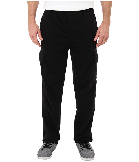 U.S. POLO ASSN. - Fleece Cargo Pant (Black) Men