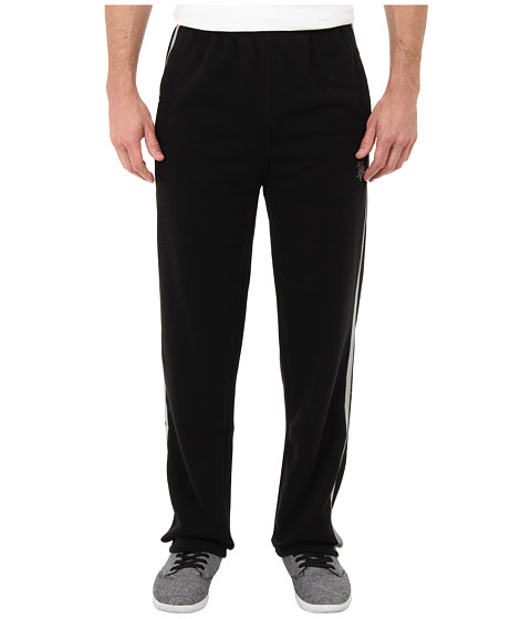 U.S. POLO ASSN. - Fleece Pants w/ Side Tape (Black) Men's Casual Pants