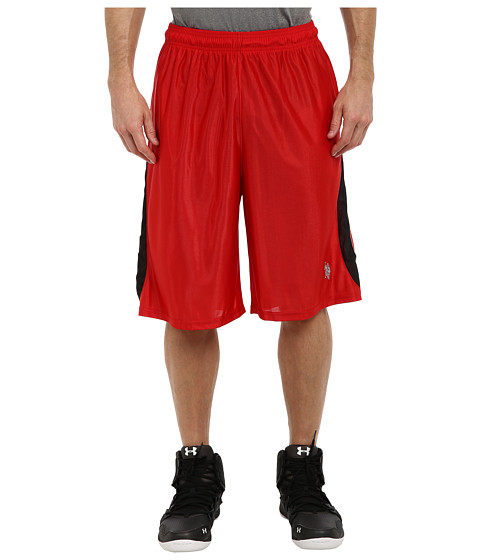 U.S. POLO ASSN. - Color Blocked Poly Dazzle Shorts (Engine Red) Men