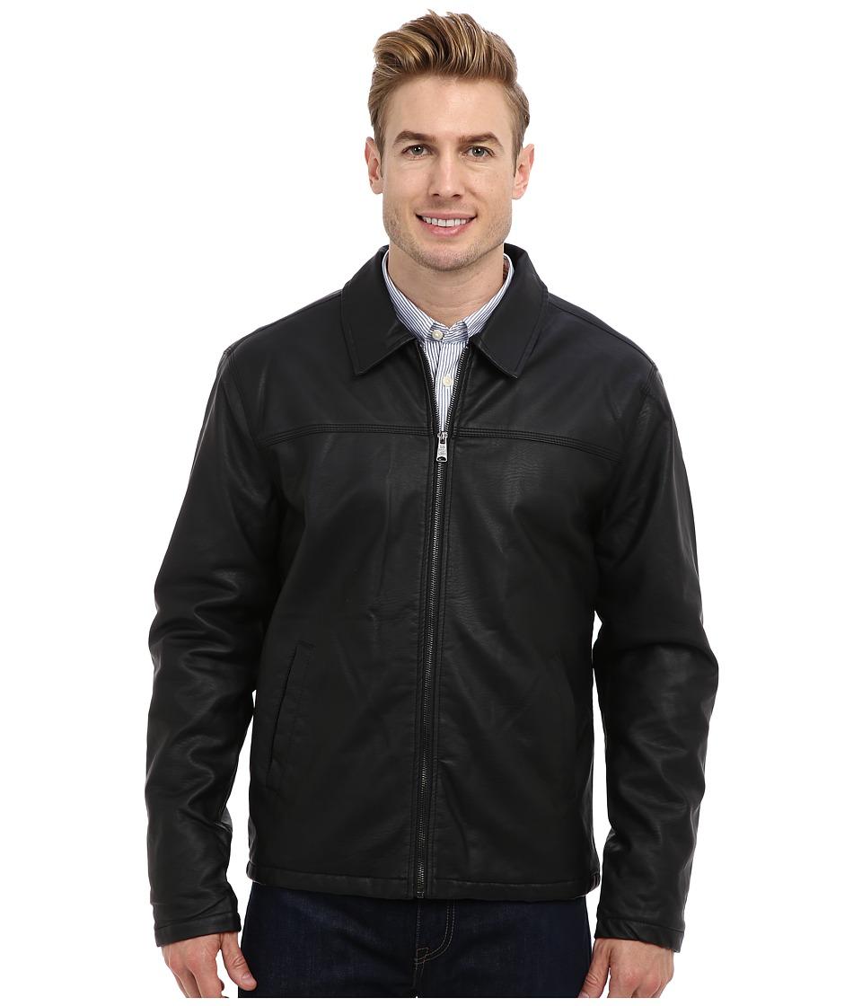U.S. POLO ASSN. - PU Trucker Jacket (Black) Men's Coat