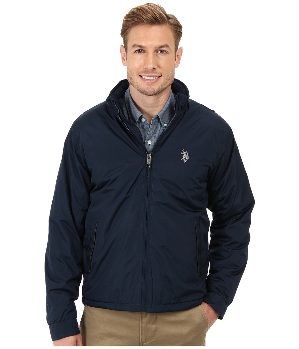 U.S. POLO ASSN. - Fleece Lined PU Piped Jacket (Classic Navy) Men