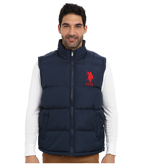 U.S. POLO ASSN. - Basic Puffer Vest w/ Large Pony (Classic Navy) Men's Vest