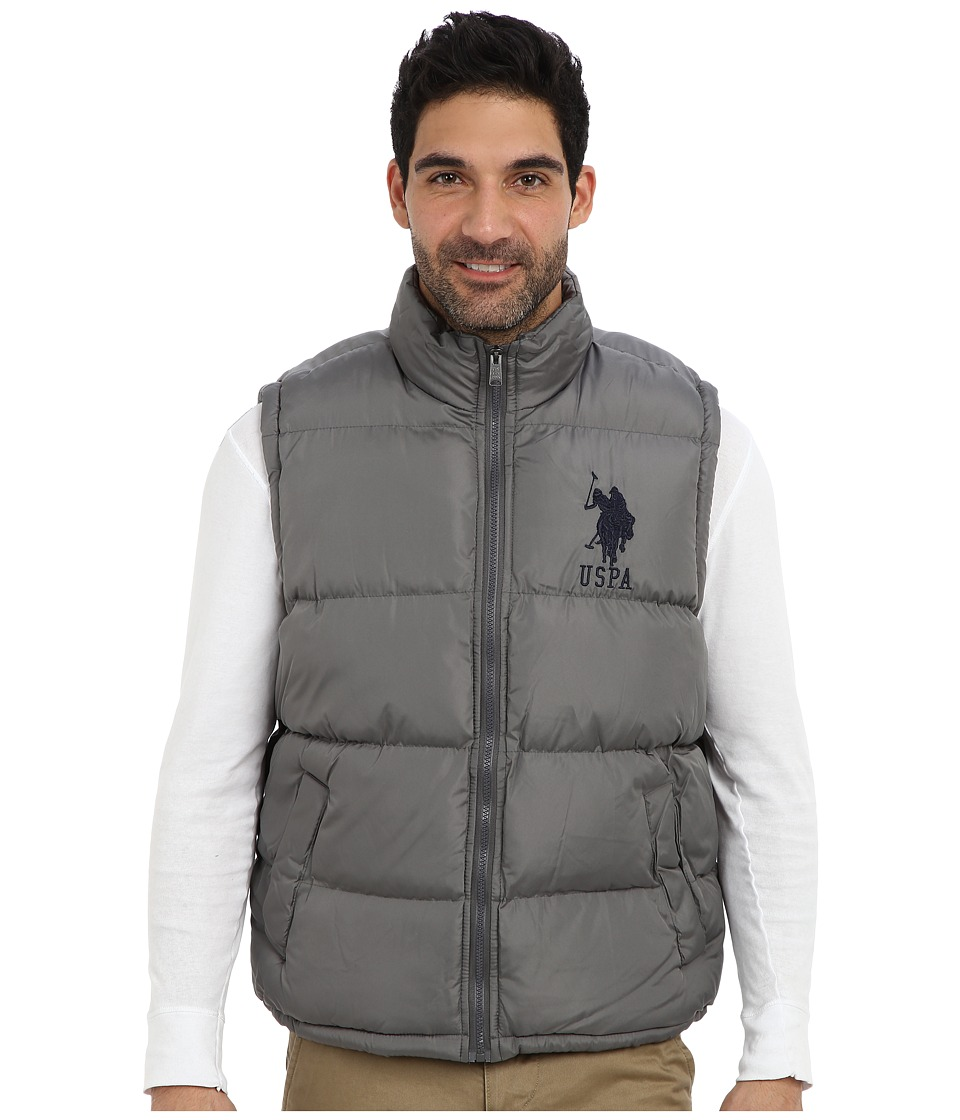 U.S. POLO ASSN. - Basic Puffer Vest w/ Large Pony (Castlerock) Men's Vest