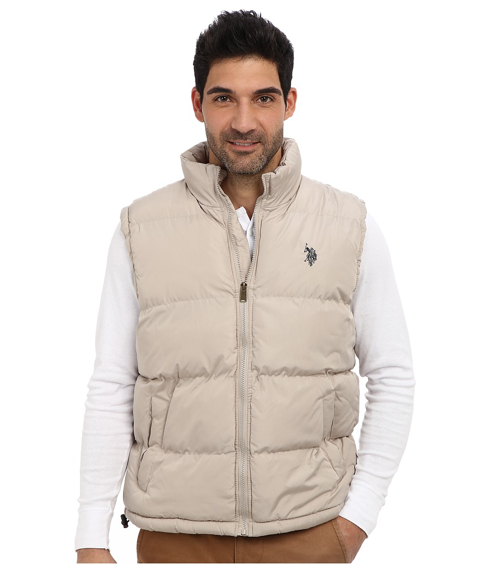 U.S. POLO ASSN. - Basic Puffer Vest (Thomston Khaki) Men's Vest