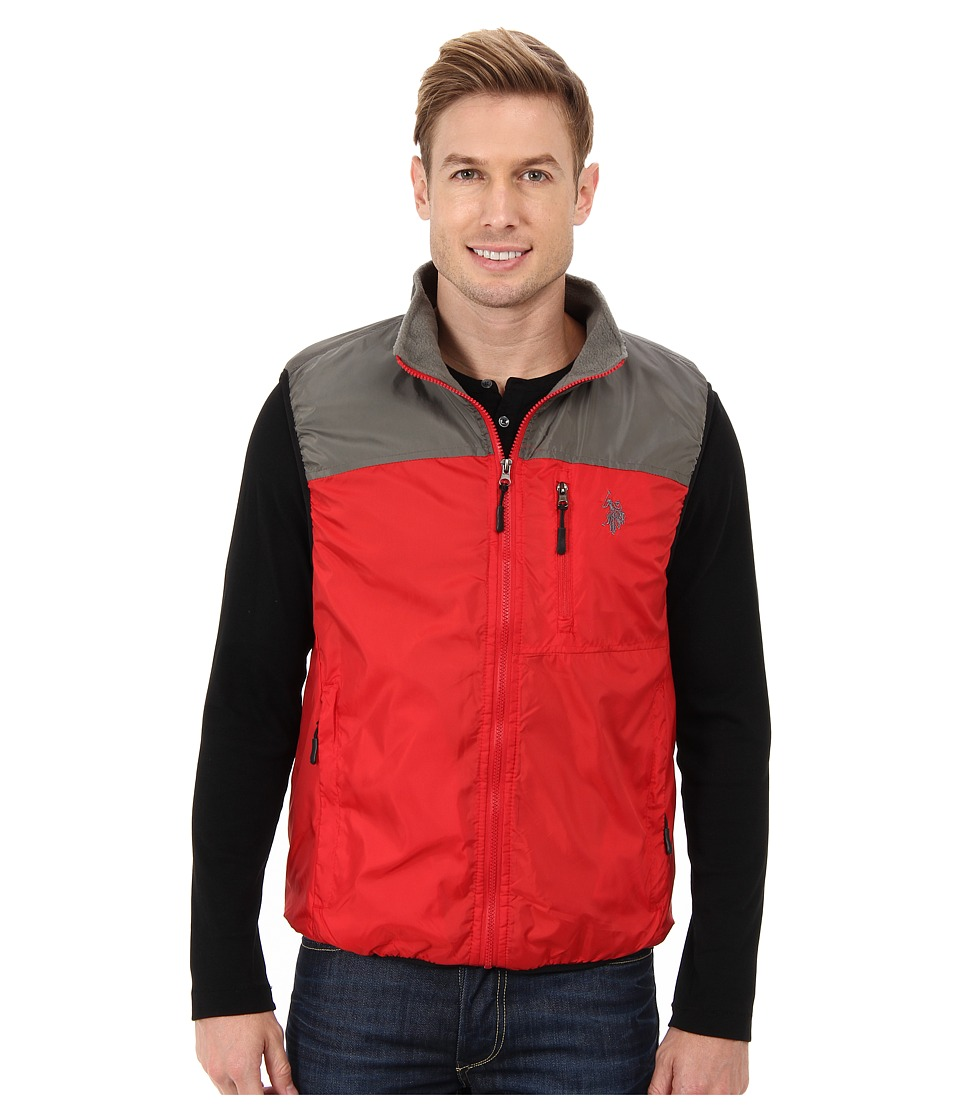 U.S. POLO ASSN. - Color Block Flat Vest (Engine Red) Men
