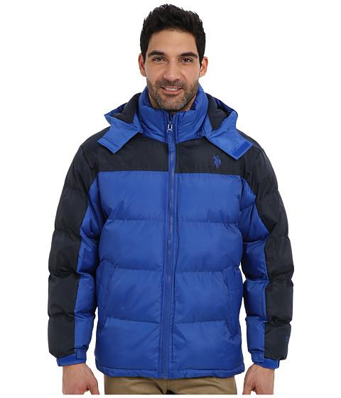 U.S. POLO ASSN. - Color Block Short Bubble Coat (China Blue) Men
