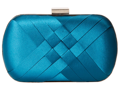 Jessica McClintock - Criss Cross Minaudiere (Peacock) Cross Body Handbags