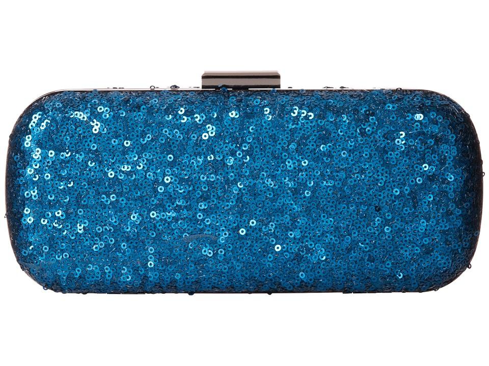 Jessica McClintock - Glitter Sequin Minaudiere (Peacock) Cross Body Handbags
