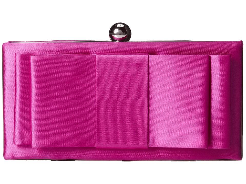 Jessica McClintock - Satin Bow Minaudiere (Orchid) Handbags
