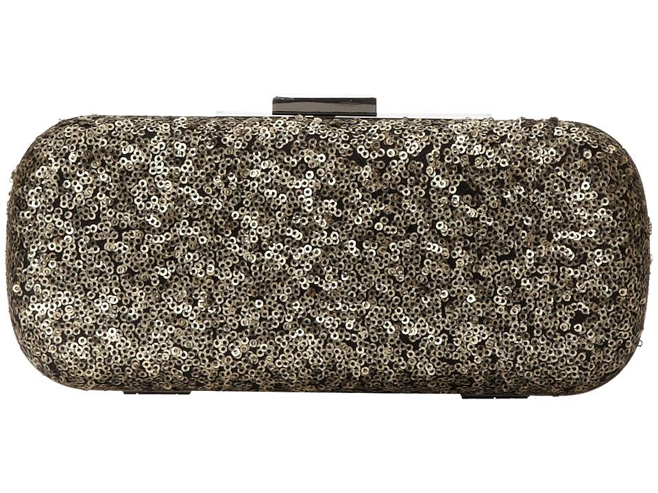 Jessica McClintock - Glitter Sequin Minaudiere (Gold) Cross Body Handbags
