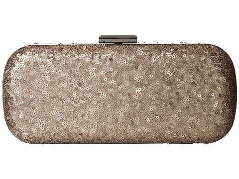 Jessica McClintock - Glitter Sequin Minaudiere (Taupe) Cross Body Handbags