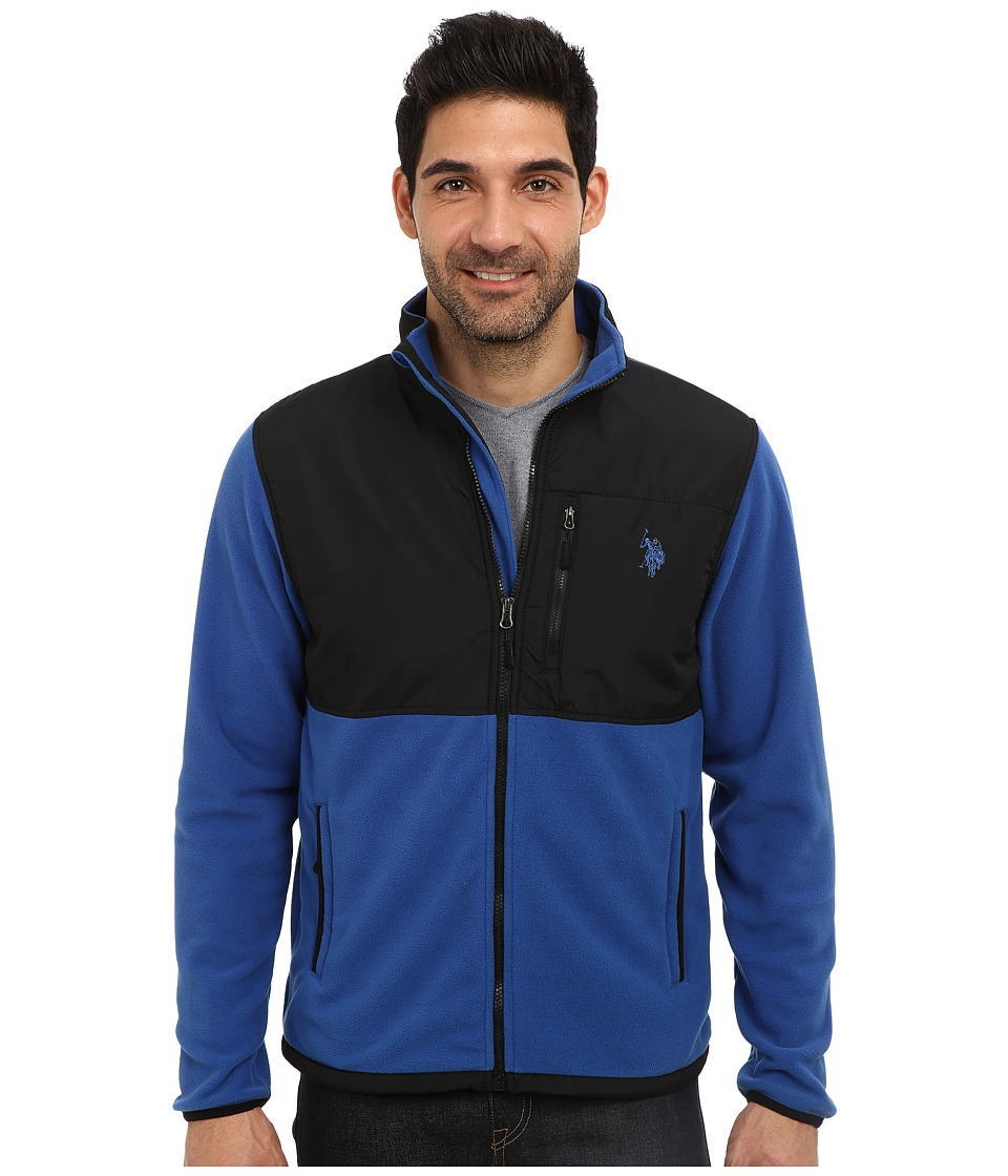 U.S. POLO ASSN. - Full Zip Polar Fleece Jacket (China Blue) Men's Sweatshirt