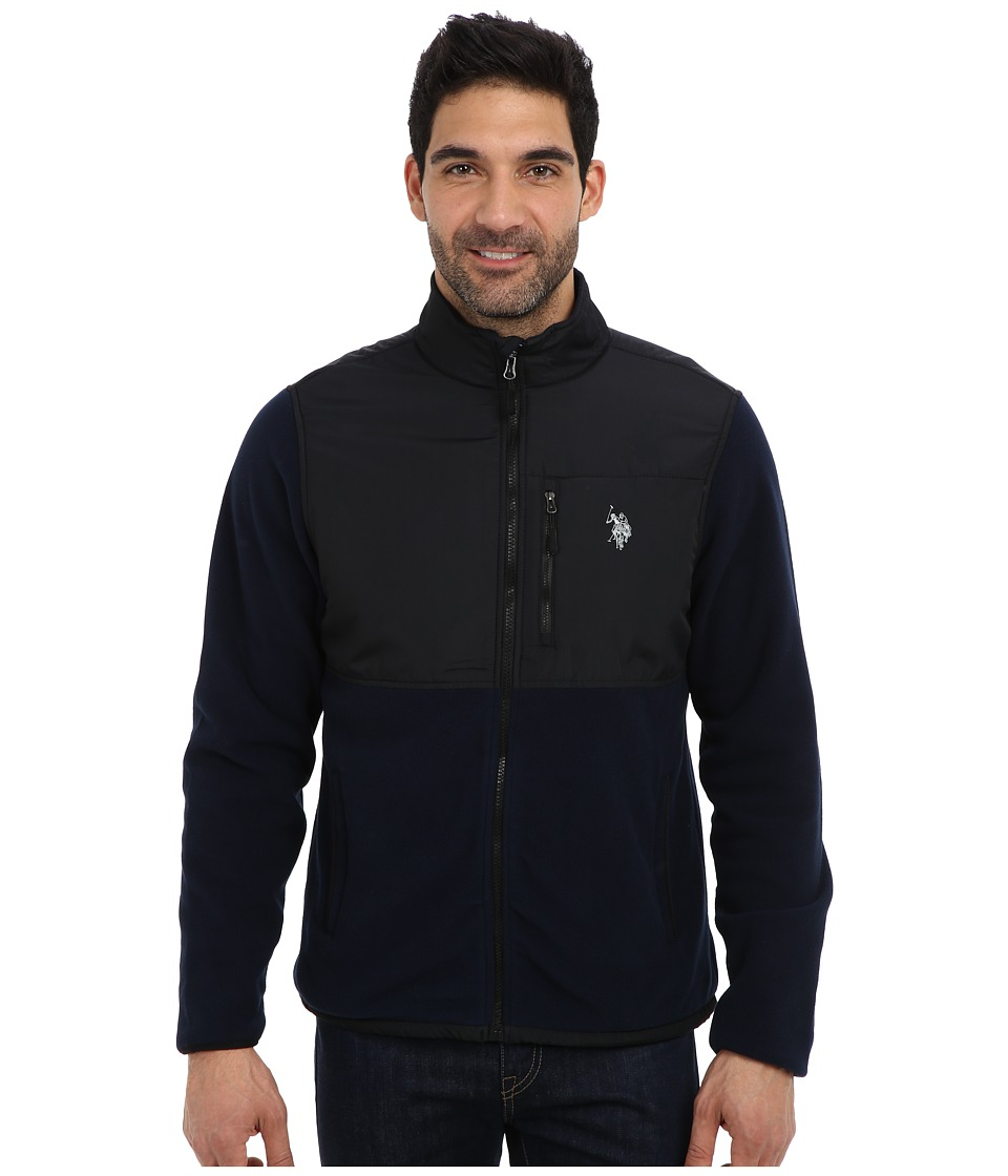 U.S. POLO ASSN. - Full Zip Polar Fleece Jacket (Classic Navy) Men's Sweatshirt