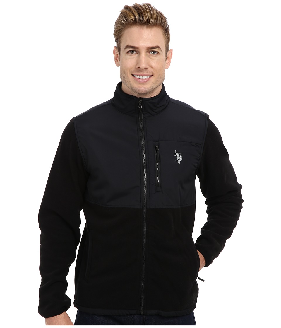 U.S. POLO ASSN. - Full Zip Polar Fleece Jacket (Black) Men